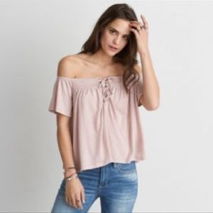 American Eagle Outfitters off-the-shoulder Top Sm